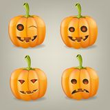 Set pumpkins for Halloween. Vector illustration Royalty Free Stock Image
