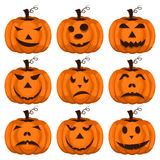 Set pumpkins for Halloween vector. Royalty Free Stock Photography