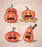 Set of pumpkins Royalty Free Stock Photography