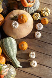 Set of pumpkins Stock Photo