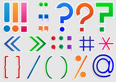 Set of punctuation marks Stock Image