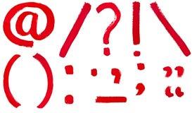 Set of punctuation marks Royalty Free Stock Image