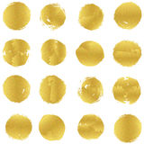 Set of purely  light golden stains design. Print or patter Royalty Free Stock Photo