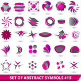 Set of purple abstract symbols. Vector set of purple abstract symbols Stock Photo