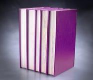Set of purple books royalty free stock photo