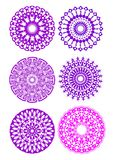 A set of purple circle patterrns. A set of fine purple circle patterrns Royalty Free Stock Image
