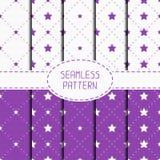 Set of purple hipster fashion geometric seamless Royalty Free Stock Photo
