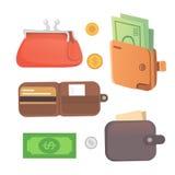 Set purse vector illustration. Eps10 Royalty Free Stock Photography