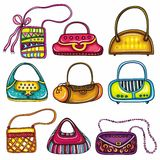Set of purses Stock Photos