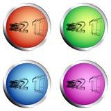 2021 colored circle push button set royalty free illustration