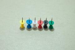 Set of push pins Stock Photography