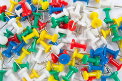 Set of push pins Stock Photography