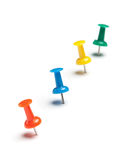 Colorful push pins Stock Photography