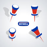 Set of pushpins, vector illustration. Stock Photo