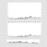 Set puste miejsca Drzejący papierów prześcieradła Wektor notatka składa kolekcję z kleistą taśmą Fotografia Royalty Free