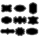 Set puste rocznik ramy Prezent etykietki Tapetuje etykietki Płaski projekt Odosobneni wektory ilustracji