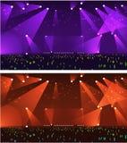 Set pustej sceny Rockowy koncert Zdjęcia Stock