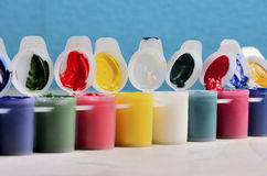 Set puszki farba artysta Zdjęcia Royalty Free