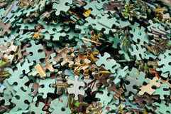 Set of puzzle Stock Image