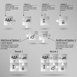 Set of puzzle for infographic. On white background Royalty Free Stock Photos