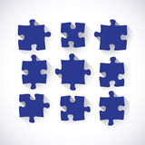 Set of puzzle pieces Royalty Free Stock Images