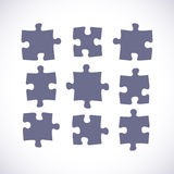 Set of puzzle pieces Stock Image