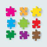 Set of puzzle pieces Stock Photography