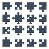 Set of puzzle pieces. Vector puzzle pieces. Design elements for marketing, advertising, promotion, branding and media. Flat cartoon illustration. Objects  on a Royalty Free Stock Image