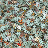 Set of puzzles Royalty Free Stock Images