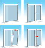 Set of PVC Windows. Illustration vector illustration