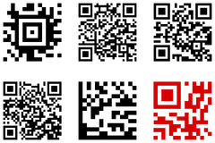 Set of qr code. On a white background Stock Image