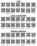 Set of QR Codes For Your SmartPhone Barcode Reader Royalty Free Stock Image
