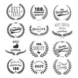 Set of quality emblems. Best choice. Stock Images
