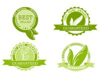 Set of quality guarantee icons Stock Images