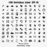 Set of 100 Quality icon. ( Fire Service icons , Medical icons , Media icons , Money icons , Food icons ,Mobile icons , Police icons ,Web icons , Camping icons royalty free illustration