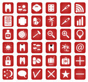 Set of 36 Quality icon. Vector for you design.  Royalty Free Stock Photos