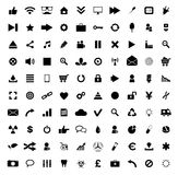 Set of 100 Quality icons Royalty Free Stock Photos
