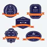 Set of quality labels Stock Image