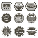 Set quality mark, vintage labels sale Royalty Free Stock Photo