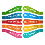 Set of Quality Ribbons. Set of Quality Ribbons on a white background in vector Stock Images