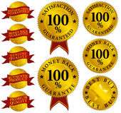 Set of Quality Seals Royalty Free Stock Photography