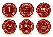 Set of quality seals Royalty Free Stock Photo