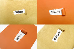 Set Of Quality Text Stock Photography