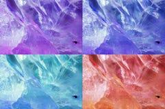Set of quartz crystal textures Royalty Free Stock Photos