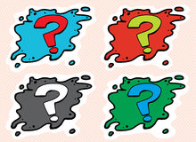 Set of Question Mark Avatars Royalty Free Stock Photography