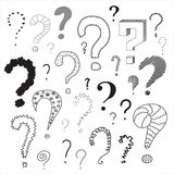 Set of question marks Royalty Free Stock Photo