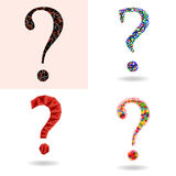 Set of question marks. Stock Photography