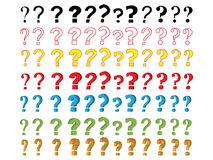 Set of question marks Stock Images