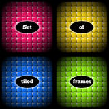 Set of quilt frames Royalty Free Stock Photo