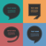 Set of Quotation. Speech Bubble templates with Stock Photography